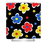 Junior Florals Shower Curtain by Louisa Knight