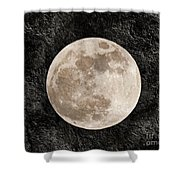 Just A Little Ole Super Moon Shower Curtain by Andee Design