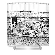 Kansas: Early House, 1854 Shower Curtain by Granger