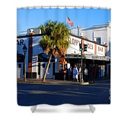 Key West Bar Sloppy Joes Shower Curtain by Susanne Van Hulst