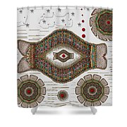 kissing fish from wishful Sea to the warm reef Shower Curtain by Pepita Selles