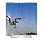 Kitesurfing Shower Curtain by Hagai Nativ