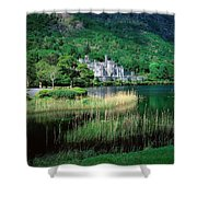 Kylemore Abbey, Co Galway, Ireland Shower Curtain by The Irish Image Collection