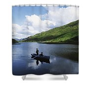 Kylemore Lake, Co Galway, Ireland Shower Curtain by The Irish Image Collection