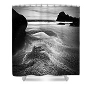 Kynance Cove Cornwall Shower Curtain by Dorit Fuhg