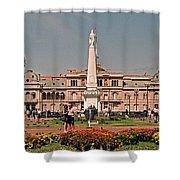 La Casa Rosada ... Shower Curtain by Juergen Weiss