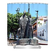 La Rogativa Sculpture Old San Juan Puerto Rico Shower Curtain by Shawn O'Brien
