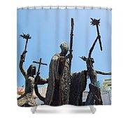La Rogativa Statue Old San Juan Puerto Rico Shower Curtain by Shawn O'Brien