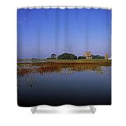 Ladys Island, Co Wexford, Ireland Site Shower Curtain by The Irish Image Collection
