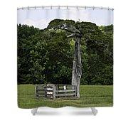 Lafayette Meeks Cemetery Appomattox Virginia Shower Curtain by Teresa Mucha