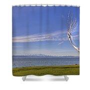 Lake Constace Friedrichshafen Shower Curtain by Joana Kruse