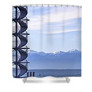 Lake Constance Friedrichshafen Shower Curtain by Joana Kruse