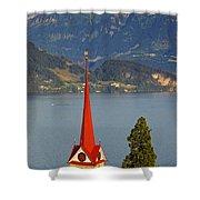 Lake Lucerne Shower Curtain by Brian Jannsen