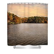 Lakeside Morning Shower Curtain by Jai Johnson