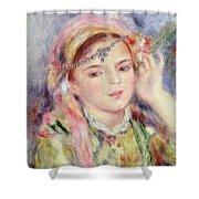 L'Algerienne Shower Curtain by Pierre Auguste Renoir