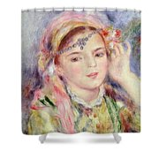 L'algerienne Shower Curtain by Pierre Auguste Renoir