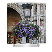 Lamp And Lace At The Grand Place Shower Curtain by Carol Groenen