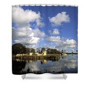Larchill Arcadian Garden, Co Kildare Shower Curtain by The Irish Image Collection