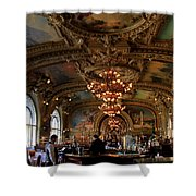 Le Train Bleu Shower Curtain by Andrew Fare