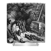 League Of Rats, 1868 Shower Curtain by Granger