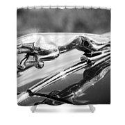 Leaping Jaguar Shower Curtain by Sebastian Musial