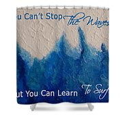 Learning To Surf Shower Curtain by The Art With A Heart By Charlotte Phillips