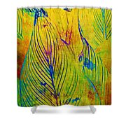 Leaves In The Jungle Shower Curtain by Judi Bagwell