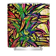 Leaves Of Imagination Shower Curtain by Judi Bagwell