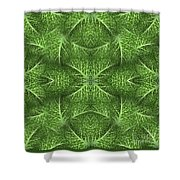 Lettuce Live Green  Shower Curtain by Sue Duda