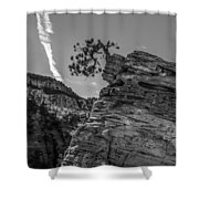 Life On The Edge Shower Curtain by George Buxbaum