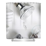 Light Bulbs Shower Curtain by Photo Researchers, Inc.