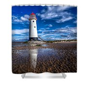 Lighthouse Reflections Shower Curtain by Adrian Evans