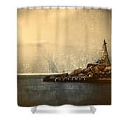 Lighthouse Shower Curtain by Stelios Kleanthous