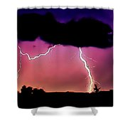 Lightning Over The Plains II Shower Curtain by Ellen Heaverlo