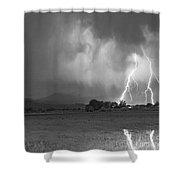 Lightning Striking Longs Peak Foothills 8cbw Shower Curtain by James BO  Insogna