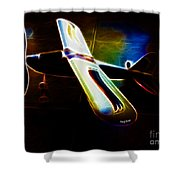 Lil Plane Shower Curtain by Cheryl Young
