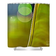 Lime Abstract Two Shower Curtain by Dana Kern