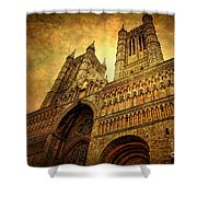 Lincoln Cathedral Shower Curtain by Yhun Suarez