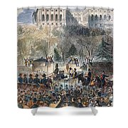 Lincoln Inauguration Shower Curtain by Granger