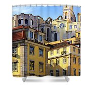 Lisbon Buildings Shower Curtain by Carlos Caetano