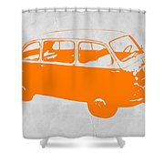 Little Bus Shower Curtain by Naxart Studio