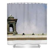 Little Tower Shower Curtain by Henrik Lehnerer