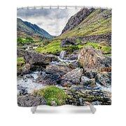 Llanberis Pass Shower Curtain by Adrian Evans