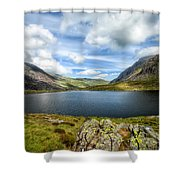 Llyn Idwal Lake Shower Curtain by Adrian Evans