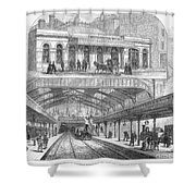 London: Railway, 1876 Shower Curtain by Granger