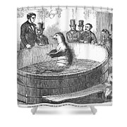 London: Talking Fish, 1859 Shower Curtain by Granger