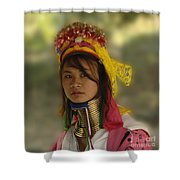 Long Neck Beauty Karen Tribe Shower Curtain by Bob Christopher