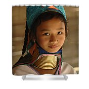 Long Necked Girl 2 Shower Curtain by Bob Christopher