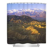 Looking At Panamint Range Shower Curtain by Tim Fitzharris
