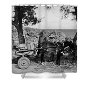 Looking Back Shower Curtain by John Malone